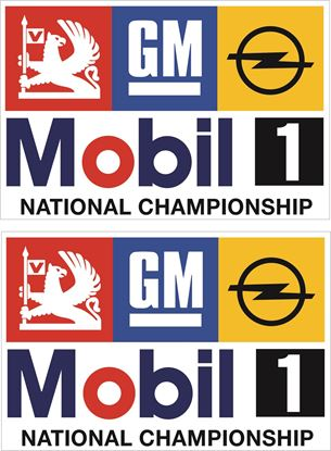 Picture of Vauxhall / Opel Mobil 1 National Championship Decals / Stickers