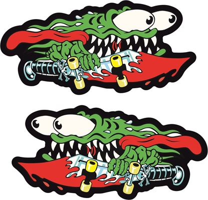 Picture of Santa Cruz Slasher Sword Decals / Stickers