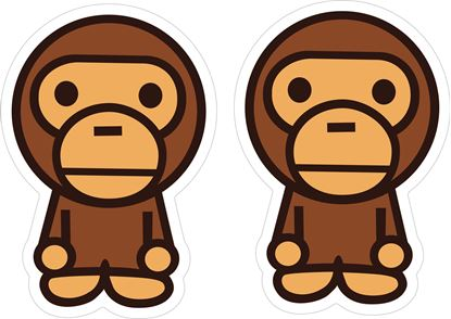 Picture of Ape Bape Decals / Stickers