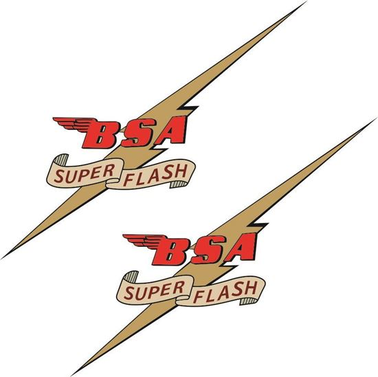Picture of BSA Super Flash Decals / Stickers