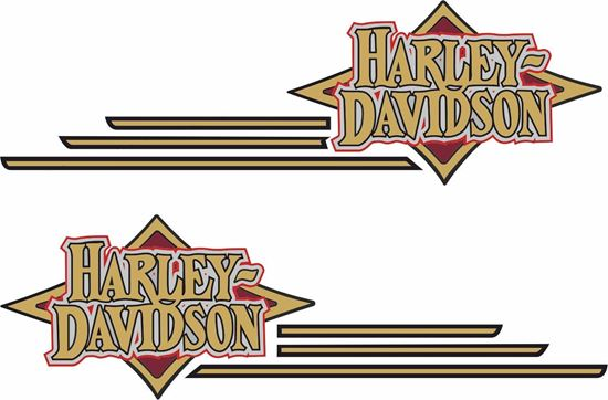 Picture of Harley Davidson  Tank Decals / Stickers