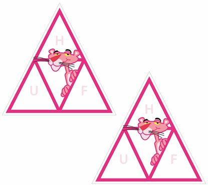 """Picture of """"Huf"""" Pink Panther Decals / Stickers"""
