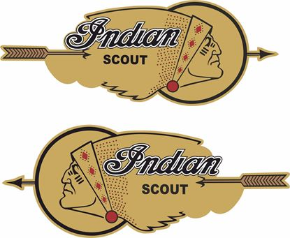 Picture of Indian Scout Tank /  Panel Decals / Stickers