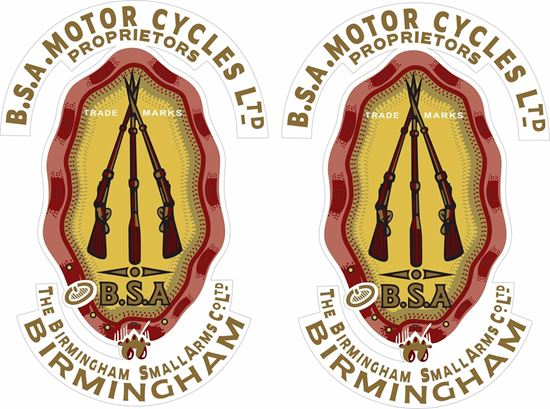 Picture of B.S.A. Motorcycles Birmingham... Decals / Stickers