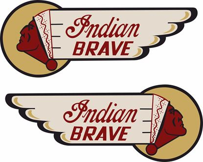 Picture of Indian Brave Tank /  Panel Decals / Stickers