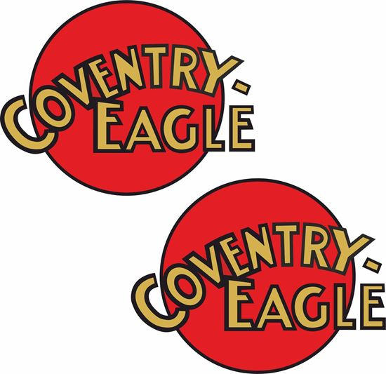 Picture of Coventry Eagle Motorcycle Decals / Stickers