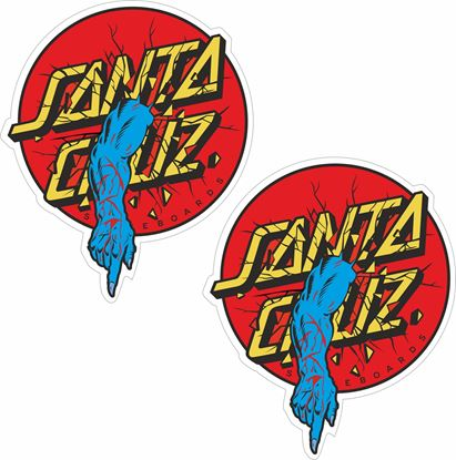 "Picture of ""Santa Cruz""  Decals / Stickers"