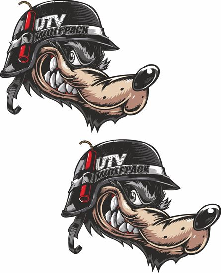 Picture of UTV Wolf Pack Decals / Stickers