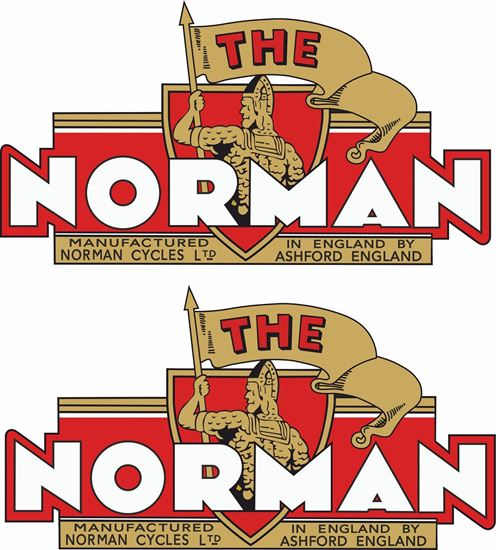 Picture of The Norman Motorcycle Decals / Stickers