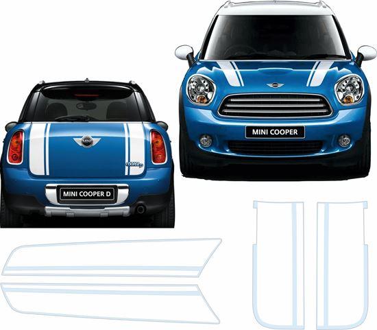 Picture of Mini R60 Countryman Bonnet & Rear Stripes / Stickers