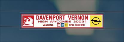 Picture of Davenport Vernon - High Wycomb Dealer rear glass Sticker