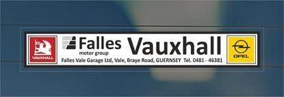Picture of Falles Motor Group - Gurnsey Dealer rear glass Sticker