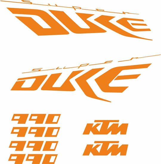 Picture of KTM Super Duke 990 replacement  Decals / Stickers