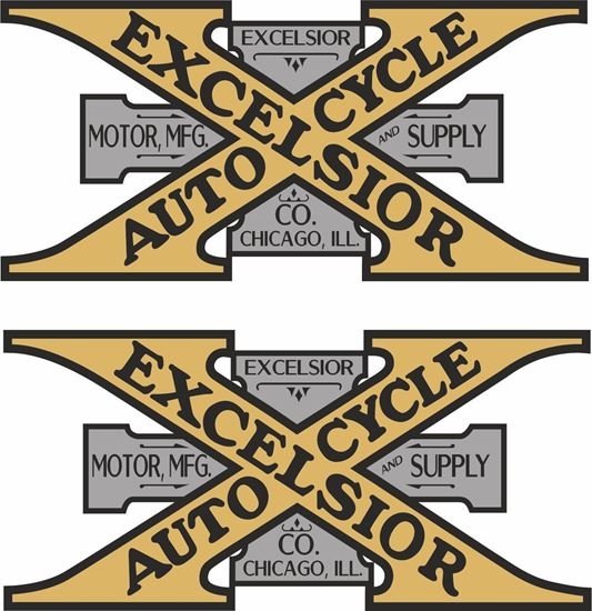 Picture of Excelsior Motorcycle Decals / Stickers
