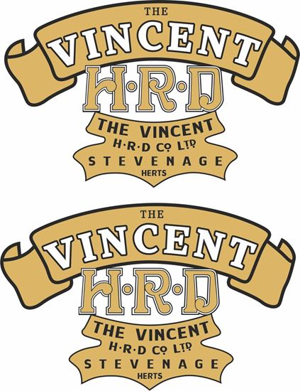 Picture of Vincent HRD Motorcycle Decals / Stickers