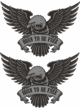 Picture of Born To Be Free general panel  Decals / Stickers