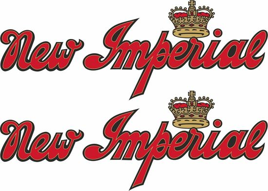 Picture of New Imperial Motorcycle Decals / Stickers