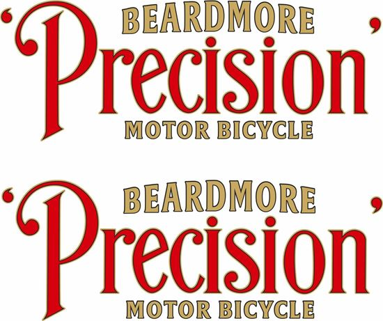 Picture of Beardmore Precision Motorcycle Decals / Stickers