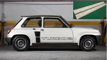 "Picture of Renault 5  Gordini "" Turbo 2"" replacement side door Decals / Stickers"
