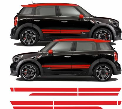 Picture of Mini R60 Countryman Cooper S / JCW Dual Sport side Stripes / Stickers
