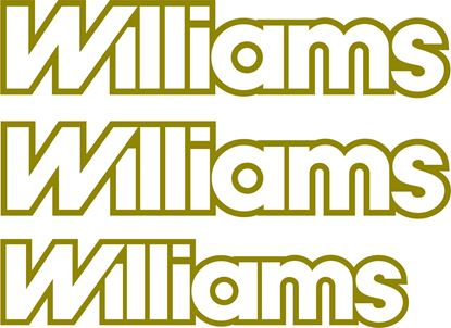 Picture of Renault Clio Williams replacement Decals / Stickers
