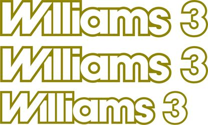 Picture of Renault Clio Williams 3 1995 - 1996 replacement Decals / Stickers