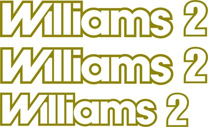 Picture of Renault Clio Williams 2 1994 - 1995 replacement Decals / Stickers