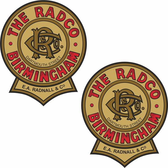 Picture of The Radco Motorcycle Decals / Stickers