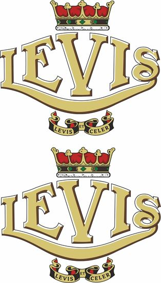 Picture of Levis Motorcycle Decals / Stickers