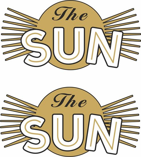 Picture of The Sun Motorcycle Decals / Stickers