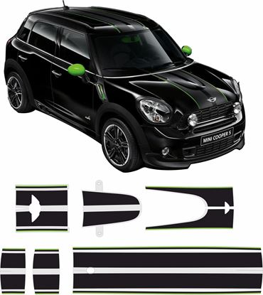 Picture of Mini R60 Countryman Ray Bonnet, Roof & Rear Stripes / Stickers