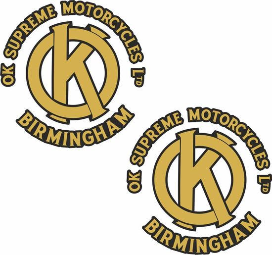 Picture of OK Supreme Motorcycle Decals / Stickers
