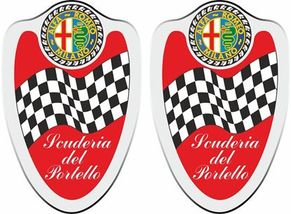 """Picture of Alfa Romeo  """"Scuderia del Portello"""" Wing Decals / Stickers"""