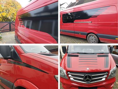 Picture of Mercedes Sprinter Long Wheel Base side Window Finisher Vinyl and Stickers
