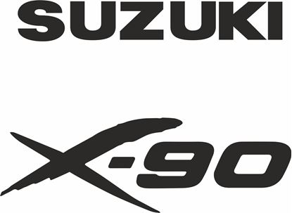 Picture of Suzuki X-90 replacement rear Decals / Stickers