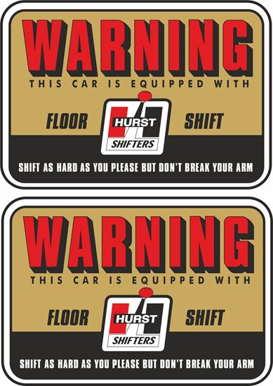 """Picture of """"Hurst Shifters"""" Decals / Stickers"""