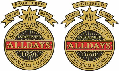 Picture of Alldays & Onions Motorcycle Decals / Stickers