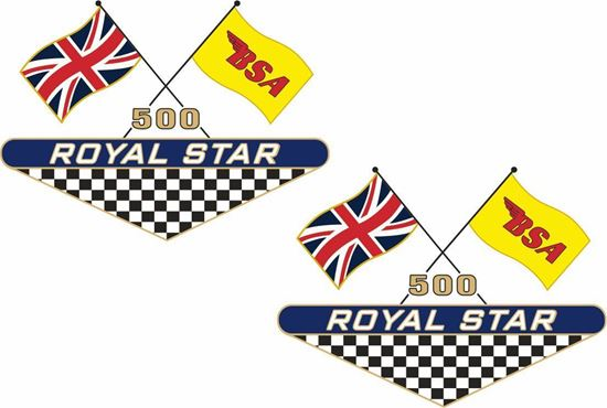 Picture of BSA 500 Royal Star Decals / Stickers