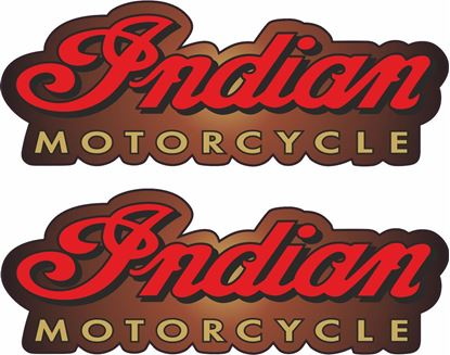 Picture of Indian Motorcycle Tank /  Panel Decals / Stickers