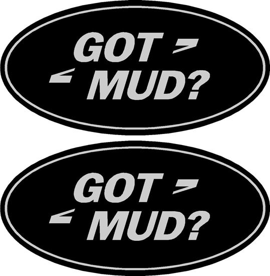 """Picture of Land Rover """"Got mud?"""" Decals / Stickers"""