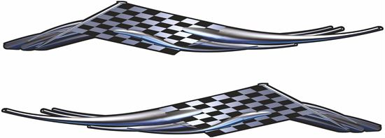 Picture of Chequered Flag Tribal general panel  Decals / Stickers - copy