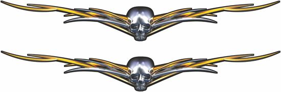 Picture of Skull Wings general panel  Decals / Stickers