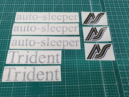 "Picture of Auto - sleeper T25 / T3 ""Trident"" restoration Decals /  Stickers"