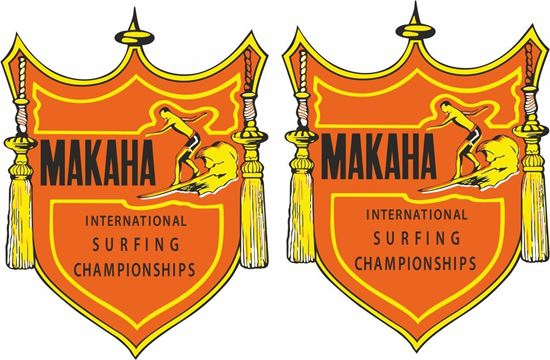 "Picture of ""Makaha Surfing Championships""""  Decals / Stickers"