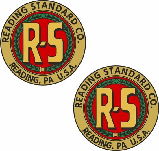 Picture of Reading Standard Co Motorcycle Decals / Stickers