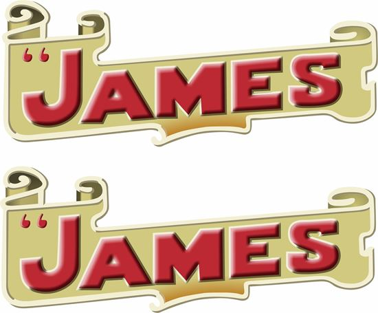 Picture of The James Motorcycle Decals / Stickers