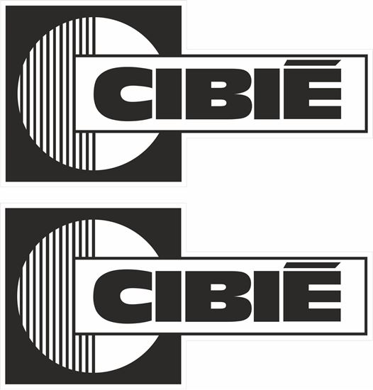 """Picture of """"Cibie"""" Decals / Stickers"""