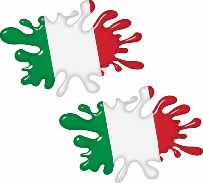 Picture of Italia Splat Decals / Stickers