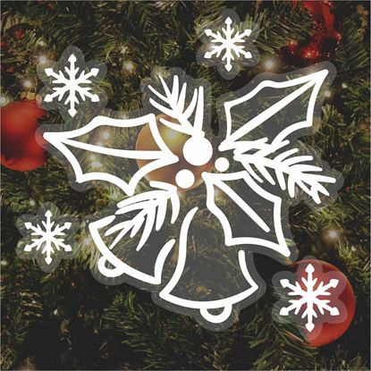 Picture of Christmas Window Cling Vinyl