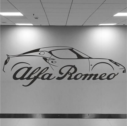Picture of Alfa Romeo 4C Wall Art sticker